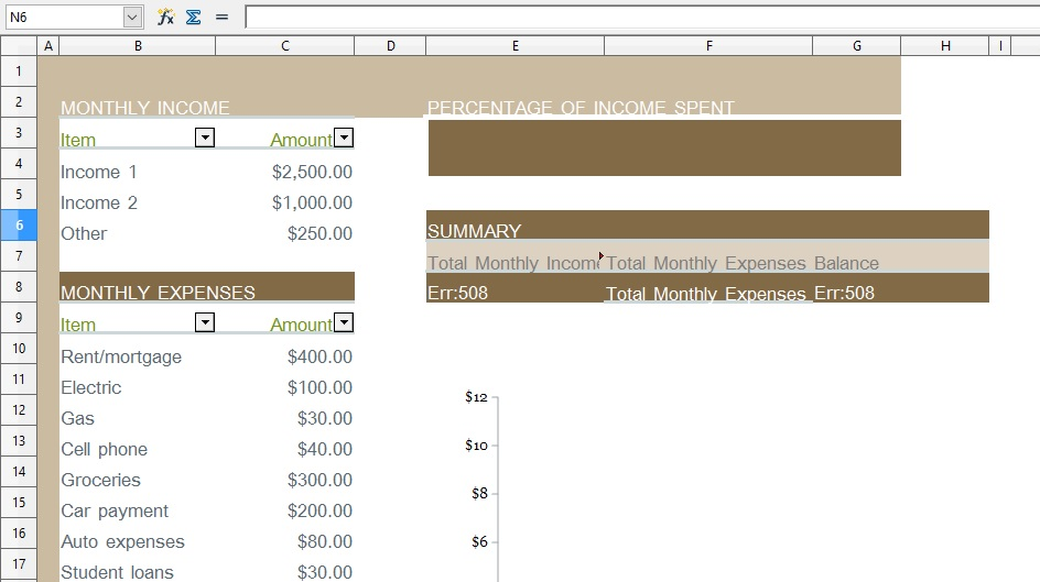 Household Monthly Budget Template from xlstemplates.com