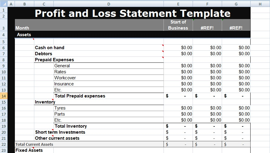 Profit And Loss Statement Template Xls from xlstemplates.com