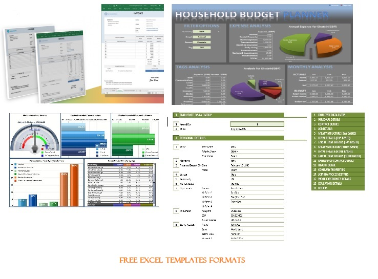 Free Excel Templates Formats