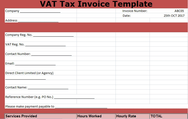VAT Tax Invoice Template